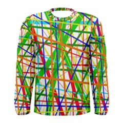 Colorful lines Men s Long Sleeve Tee