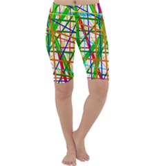 Colorful lines Cropped Leggings