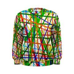 Colorful lines Women s Sweatshirt