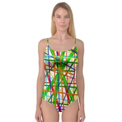 Colorful lines Camisole Leotard