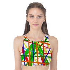Colorful lines Tank Bikini Top