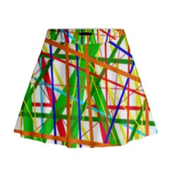 Colorful lines Mini Flare Skirt