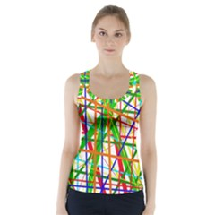 Colorful lines Racer Back Sports Top