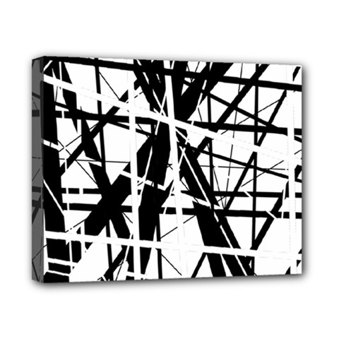 Black and white abstract design Canvas 10  x 8
