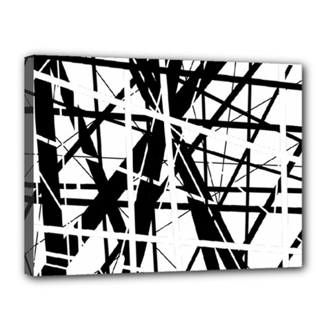 Black and white abstract design Canvas 16  x 12