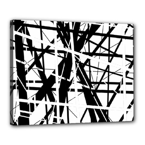 Black and white abstract design Canvas 20  x 16