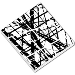 Black and white abstract design Small Memo Pads