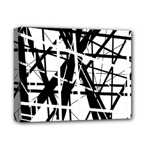 Black and white abstract design Deluxe Canvas 14  x 11