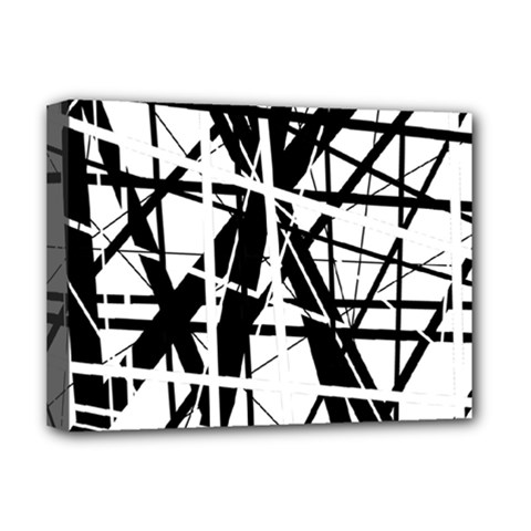Black and white abstract design Deluxe Canvas 16  x 12