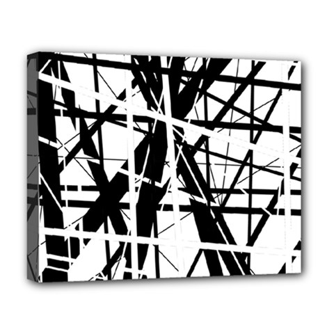 Black and white abstract design Deluxe Canvas 20  x 16