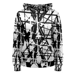 Black and white abstract design Women s Pullover Hoodie