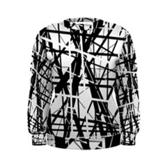 Black and white abstract design Women s Sweatshirt