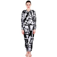 Black and white abstract design OnePiece Jumpsuit (Ladies)