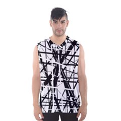 Black And White Abstract Design Men s Basketball Tank Top