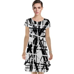 Black and white abstract design Cap Sleeve Nightdress