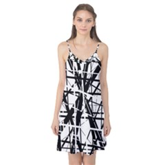 Black and white abstract design Camis Nightgown
