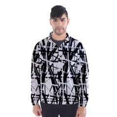 Black and white abstract design Wind Breaker (Men)