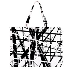 Black and white abstract design Large Tote Bag