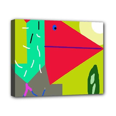 Abstract bird Canvas 10  x 8