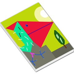 Abstract bird Large Memo Pads