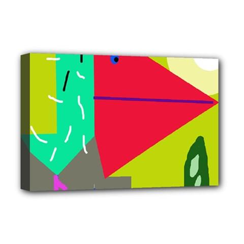 Abstract bird Deluxe Canvas 18  x 12