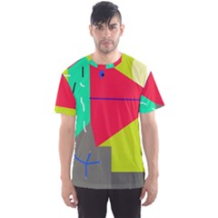 Abstract bird Men s Sport Mesh Tee