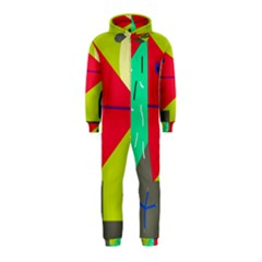 Abstract bird Hooded Jumpsuit (Kids)