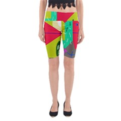 Abstract Bird Yoga Cropped Leggings