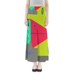 Abstract bird Maxi Skirts