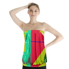 Abstract bird Strapless Top