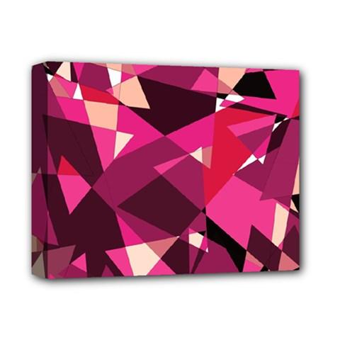 Red broken glass Deluxe Canvas 14  x 11