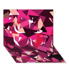 Red broken glass Clover 3D Greeting Card (7x5)