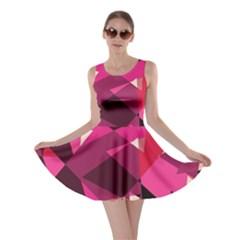 Red broken glass Skater Dress