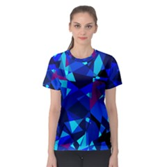 Blue broken glass Women s Sport Mesh Tee