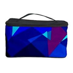 Blue broken glass Cosmetic Storage Case