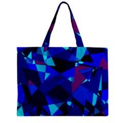 Blue broken glass Zipper Mini Tote Bag