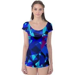 Blue broken glass Boyleg Leotard