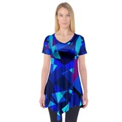 Blue broken glass Short Sleeve Tunic