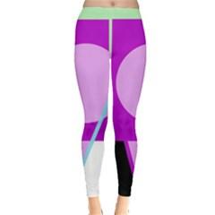 Purple geometric design Leggings