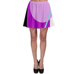 Purple geometric design Skater Skirt