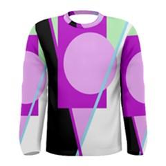 Purple geometric design Men s Long Sleeve Tee