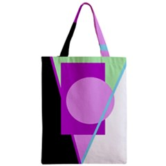 Purple geometric design Zipper Classic Tote Bag