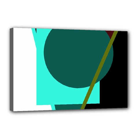 Geometric abstract design Canvas 18  x 12