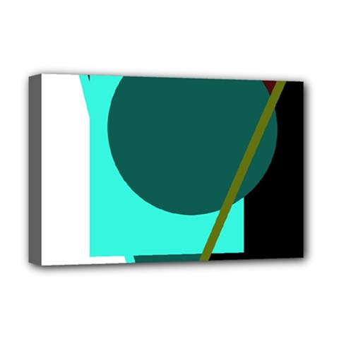 Geometric abstract design Deluxe Canvas 18  x 12