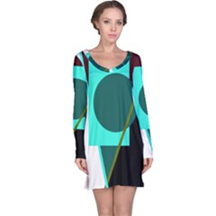 Geometric abstract design Long Sleeve Nightdress