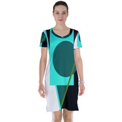 Geometric abstract design Short Sleeve Nightdress