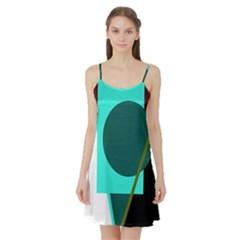 Geometric abstract design Satin Night Slip