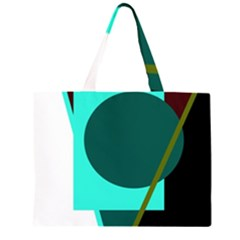 Geometric abstract design Zipper Large Tote Bag