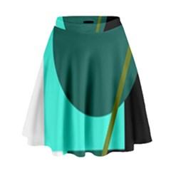 Geometric abstract design High Waist Skirt
