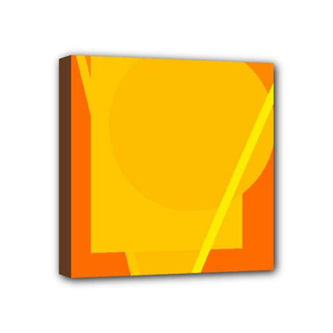 Orange abstract design Mini Canvas 4  x 4